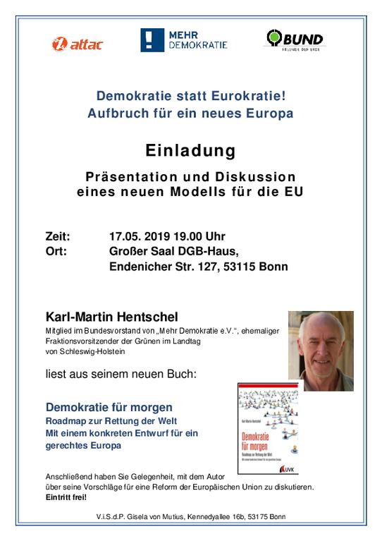 Bild zur Veranstaltung Demokratie statt Eurokratie! Aufbruch für ein neues Europa