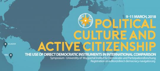 Bild zur Veranstaltung Symposium: Political culture and active citizenship
